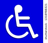 disabled signs square blue... | Shutterstock .eps vector #1318988321