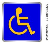 disabled signs square blue... | Shutterstock .eps vector #1318988327