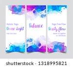 yoga card design. colorful... | Shutterstock .eps vector #1318995821