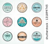 set of vintage retro coffee... | Shutterstock .eps vector #131899745