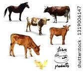 cow and calf vector... | Shutterstock .eps vector #1319006147