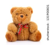 toy teddy bear isolated on white | Shutterstock . vector #131900831