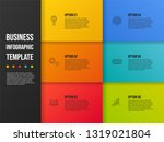 colorful infographic template... | Shutterstock .eps vector #1319021804