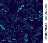 seamless  silhouette  dino... | Shutterstock .eps vector #1319022251