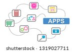 illustration of an apps concept | Shutterstock . vector #1319027711