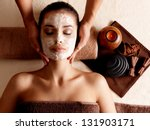 Spa Massage For Young Woman...