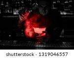 bartender spraying on the... | Shutterstock . vector #1319046557