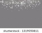 glow light effect. vector... | Shutterstock .eps vector #1319050811