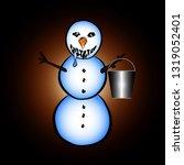 melting snowman grey background | Shutterstock .eps vector #1319052401
