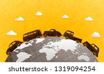 classic cars  with globe and... | Shutterstock .eps vector #1319094254