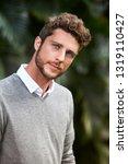 good looking blue eyed guy ... | Shutterstock . vector #1319110427
