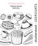 italian dessert vector... | Shutterstock .eps vector #1319111471