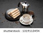 italian savoiardi ladyfingers...   Shutterstock . vector #1319113454