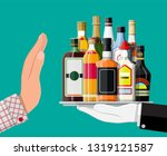 alcohol abuse concept. hand... | Shutterstock .eps vector #1319121587