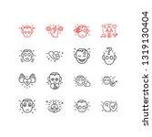 vector illustration of 16... | Shutterstock .eps vector #1319130404