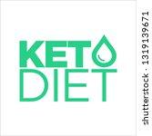 keto diet icon | Shutterstock .eps vector #1319139671