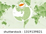 america centric world map with... | Shutterstock .eps vector #1319139821