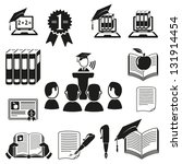 vector black education icons... | Shutterstock .eps vector #131914454