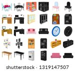 furniture and interior cartoon... | Shutterstock .eps vector #1319147507