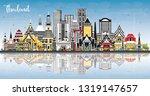 thailand city skyline with...   Shutterstock .eps vector #1319147657