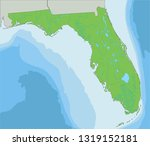 high detailed florida physical... | Shutterstock .eps vector #1319152181