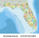 florida   highly detailed... | Shutterstock .eps vector #1319152184