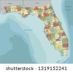 florida   highly detailed... | Shutterstock .eps vector #1319152241