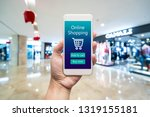 smart phone online shopping in... | Shutterstock . vector #1319155181