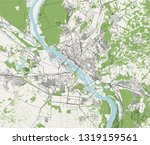 vector map of the city of... | Shutterstock .eps vector #1319159561