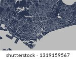 vector map of the city of... | Shutterstock .eps vector #1319159567