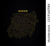 sudan map of golden glitters on ... | Shutterstock .eps vector #1319160584