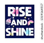 rise and shine slogan and hand... | Shutterstock .eps vector #1319164517