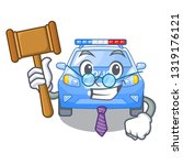 judge car police isolated with... | Shutterstock .eps vector #1319176121