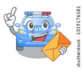 with envelope police car in the ... | Shutterstock .eps vector #1319176181