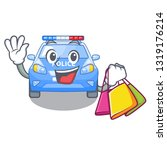 shopping police car in the... | Shutterstock .eps vector #1319176214