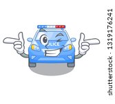 wink police car in the shape... | Shutterstock .eps vector #1319176241