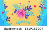 trendy colored spring...   Shutterstock .eps vector #1319189204
