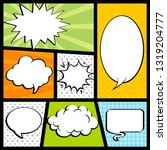 vignettes with comic dialogue... | Shutterstock .eps vector #1319204777