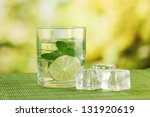 glass of water with ice  mint...   Shutterstock . vector #131920619