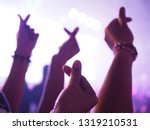 k pop music theme or live... | Shutterstock . vector #1319210531
