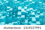 3d bright background with...   Shutterstock . vector #1319227991