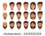 set of mens avatars with...   Shutterstock .eps vector #1319231324