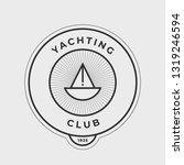 yachting club logo set.... | Shutterstock .eps vector #1319246594