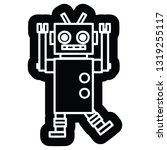 dancing robot icon symbol | Shutterstock .eps vector #1319255117