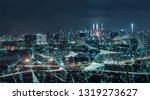 morden city and intelligent...   Shutterstock . vector #1319273627