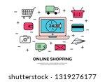 vector illustration with online ... | Shutterstock .eps vector #1319276177