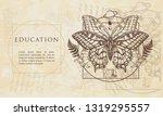 education. magic butterfly.... | Shutterstock .eps vector #1319295557