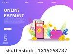 online payment concept... | Shutterstock .eps vector #1319298737