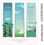 vector set of vertical banners. ...   Shutterstock .eps vector #1319307494