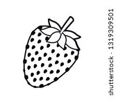 strawberry fruit isolated icon | Shutterstock .eps vector #1319309501